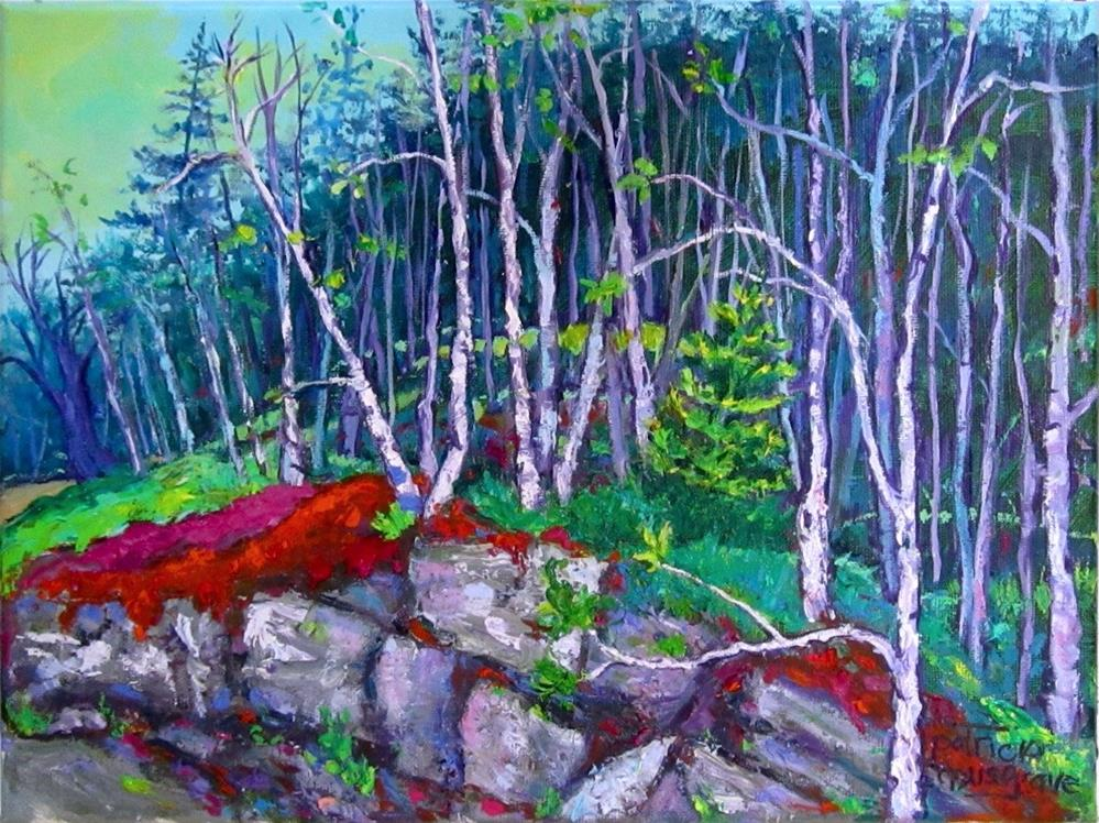 """Roadside Woods"" original fine art by Patricia Musgrave"