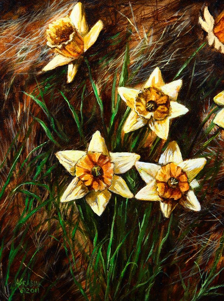 """Daffodils, I"" original fine art by Aaron Grabiak"