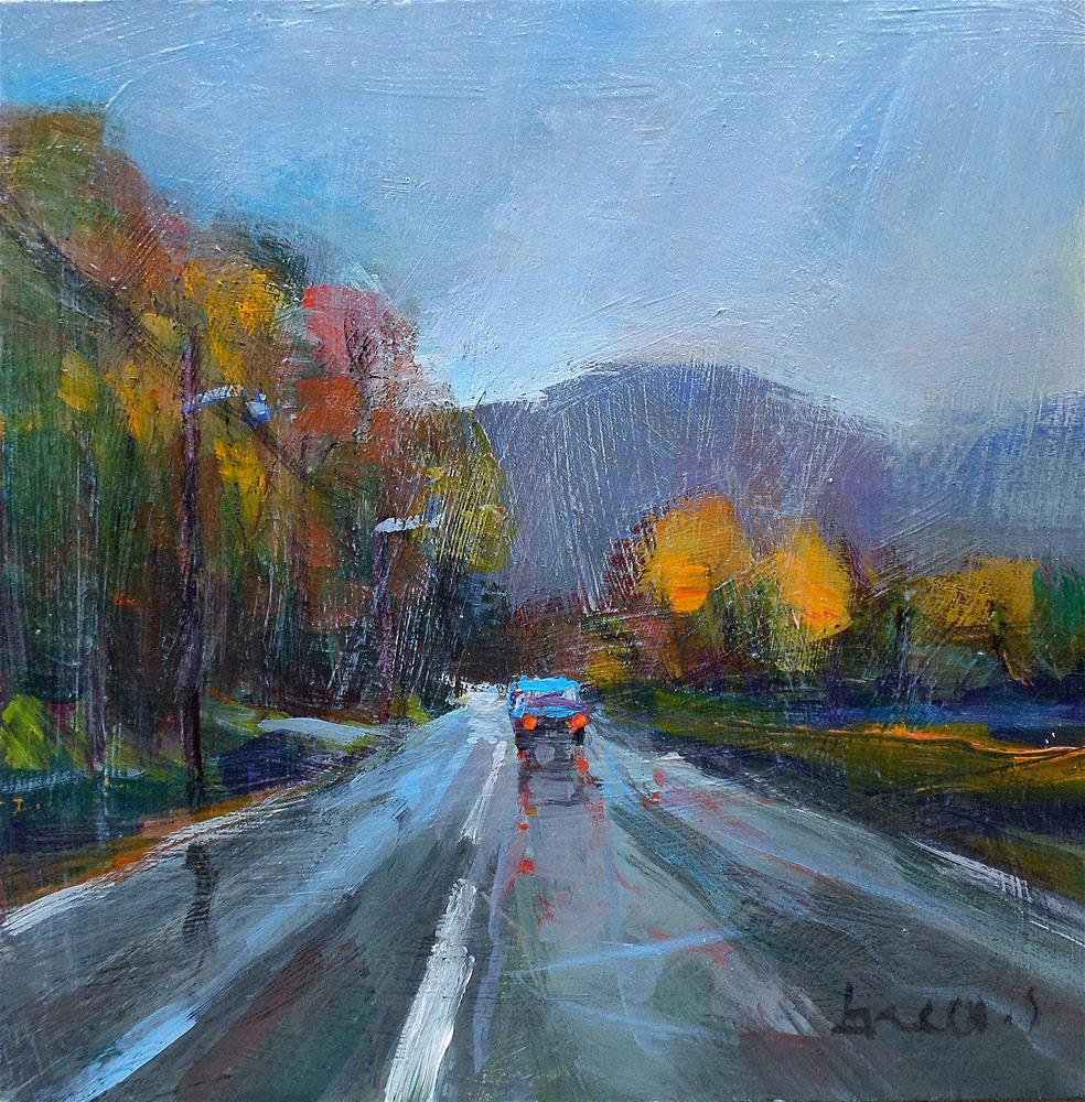 """The road rain"" original fine art by salvatore greco"