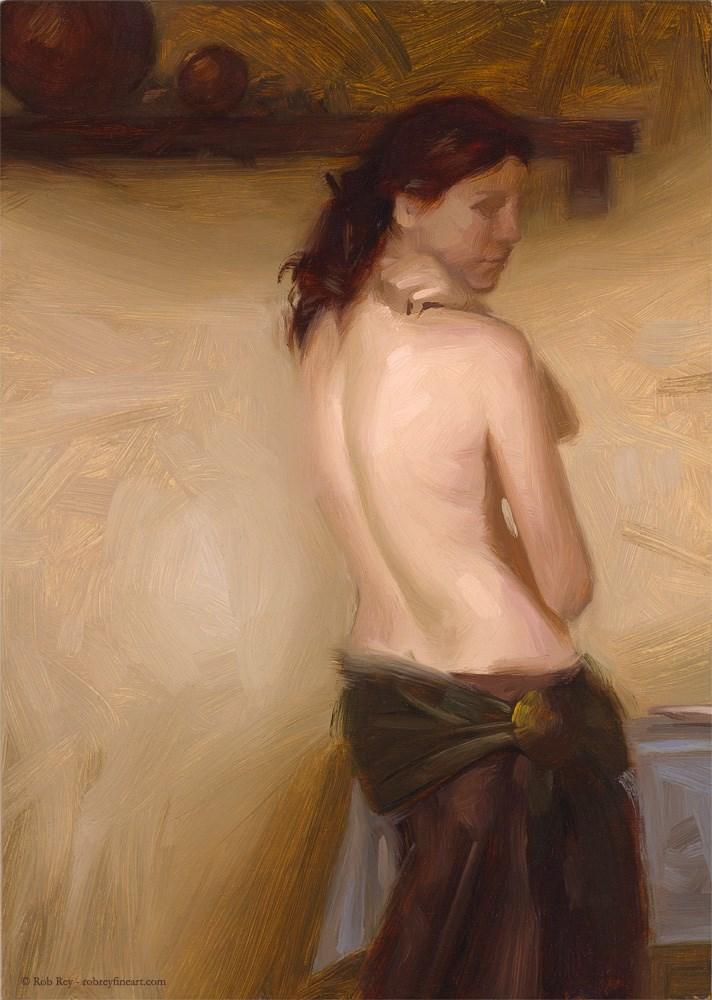 """Curve"" original fine art by Rob  Rey"