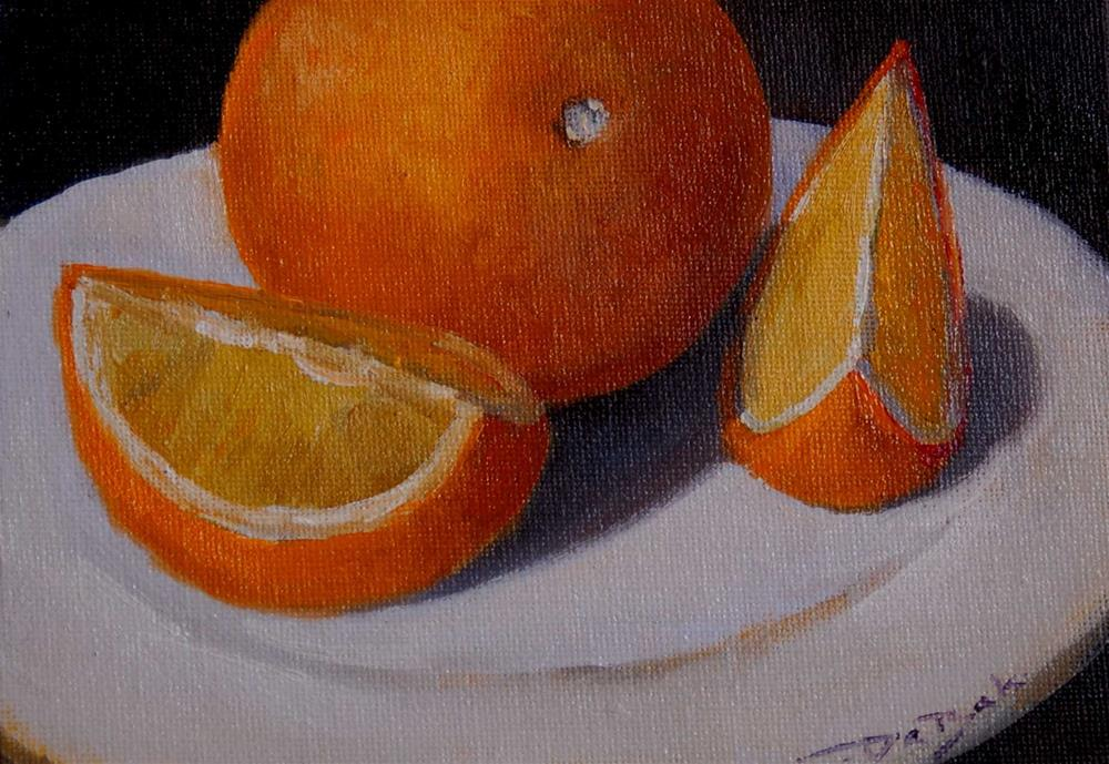 """orange"" original fine art by V. DeBak"