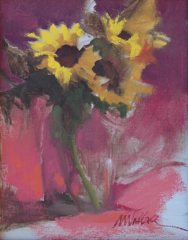 """""""#124 Sunflowers 2"""" original fine art by Nancy Wallace"""
