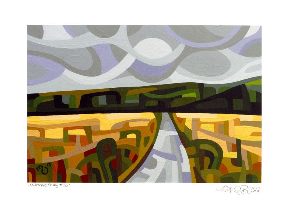 """Landscape Study #30"" original fine art by Mandy Budan"