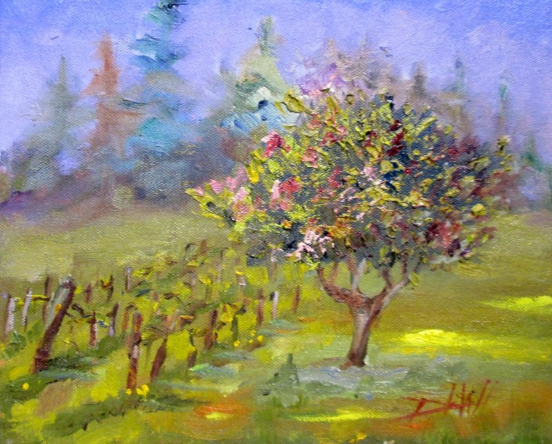 """Spring Landscape"" original fine art by Delilah Smith"