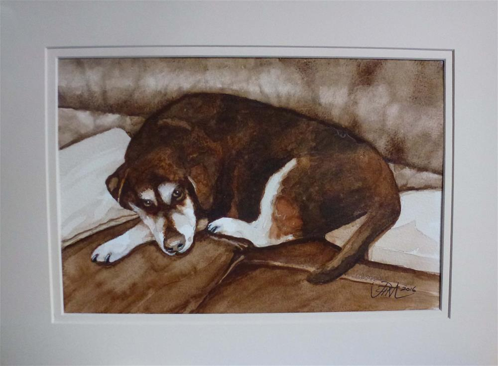 """Paws the Dog"" original fine art by John Monney"