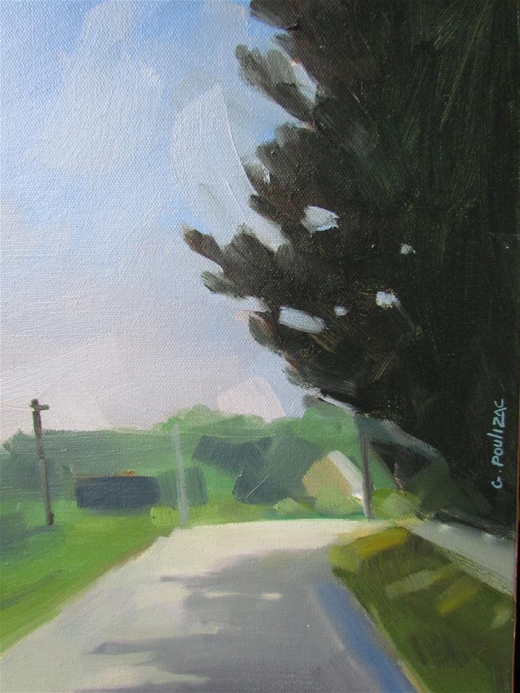 """road"" original fine art by gilles Poulizac"
