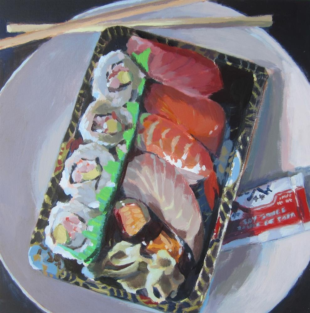 """Sushi"" original fine art by Kaethe Bealer"