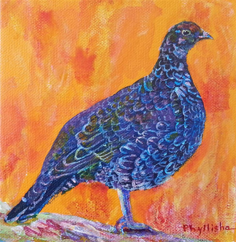 """'Dusky' Grouse"" original fine art by Phyllisha Hamrick"