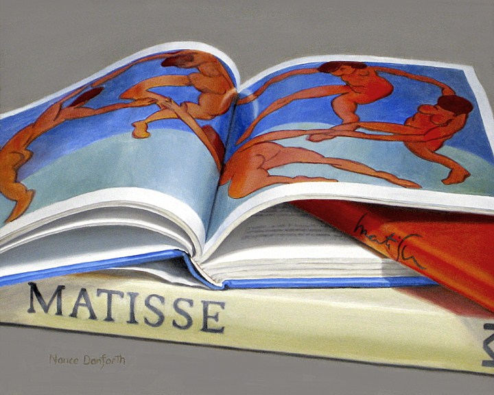 """Matisse Books"" original fine art by Nance Danforth"