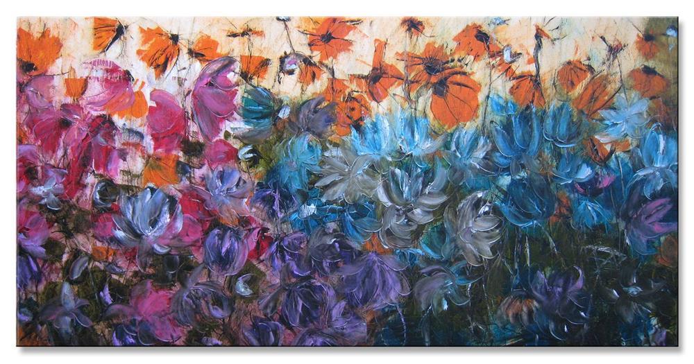 """""""Flowers in the wind"""" original fine art by Elena Lunetskaya"""