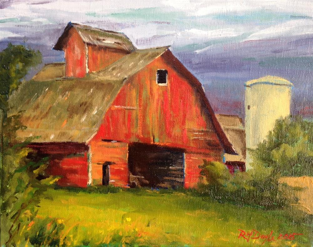 """Red Barn"" original fine art by Richard Doyle"