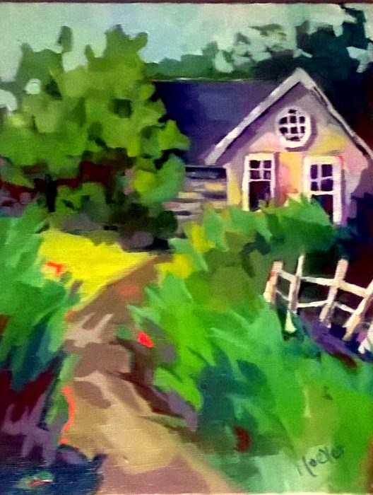 """Finally Home"" original fine art by Laurie Mueller"