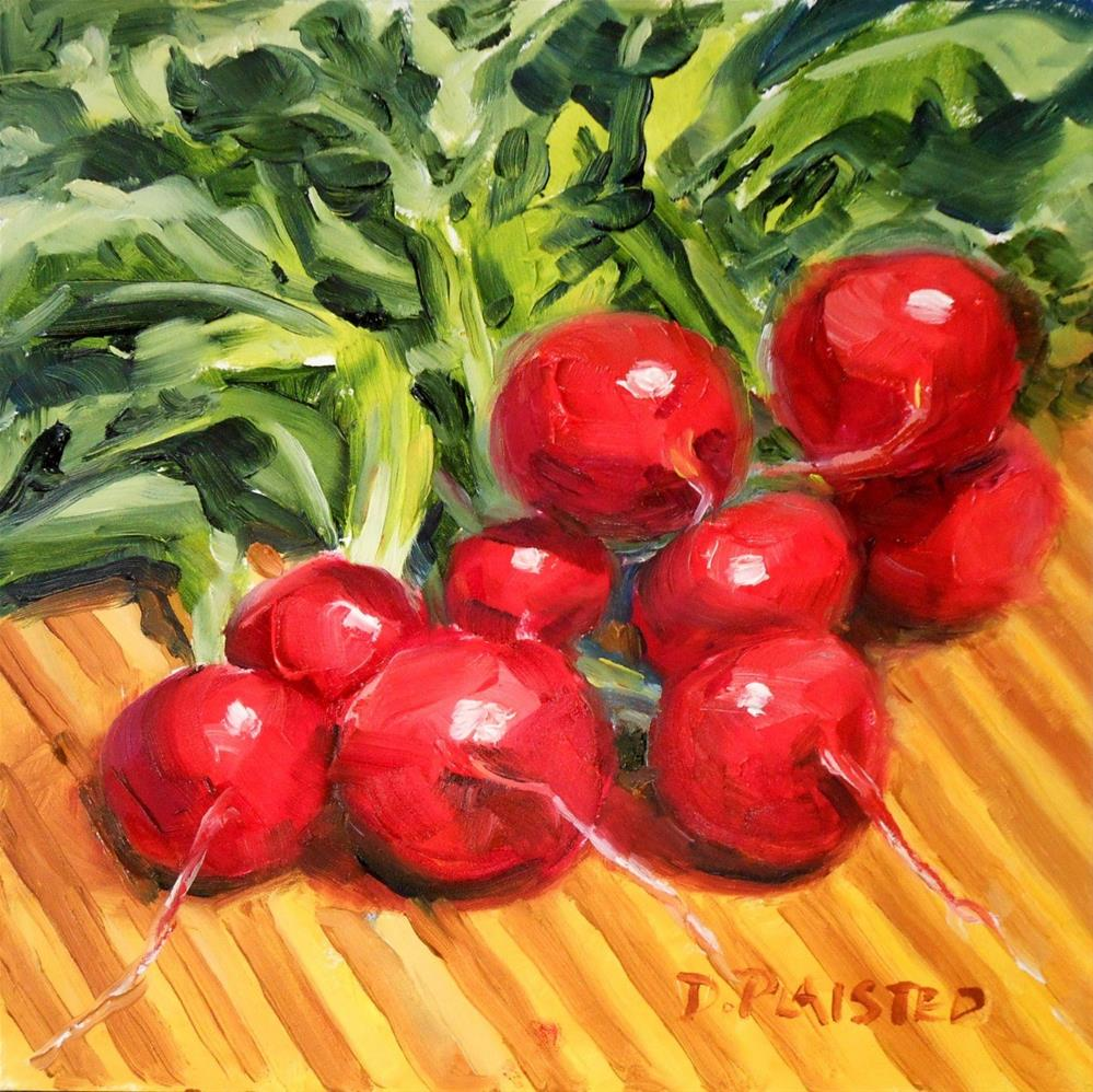 """On the Chopping Block - Radishes"" original fine art by Diane Plaisted"