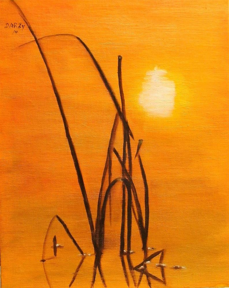 """Reed at Sunrise"" original fine art by Lynn Darby"