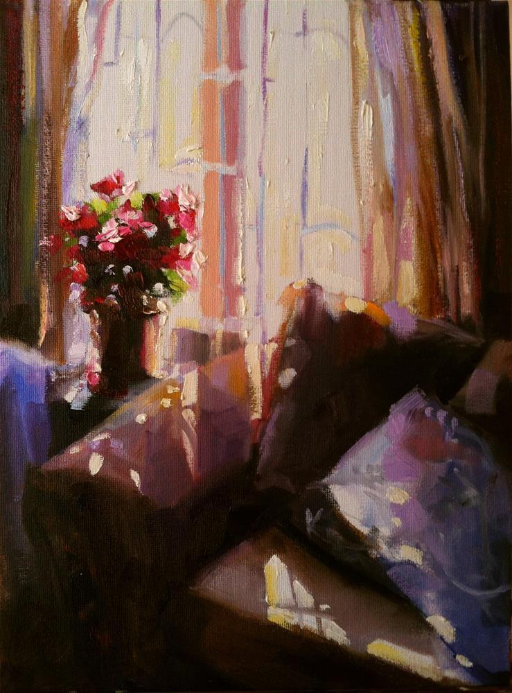 """""""MATHILDA SE VENSTER"""" original fine art by Cecilia Rosslee"""