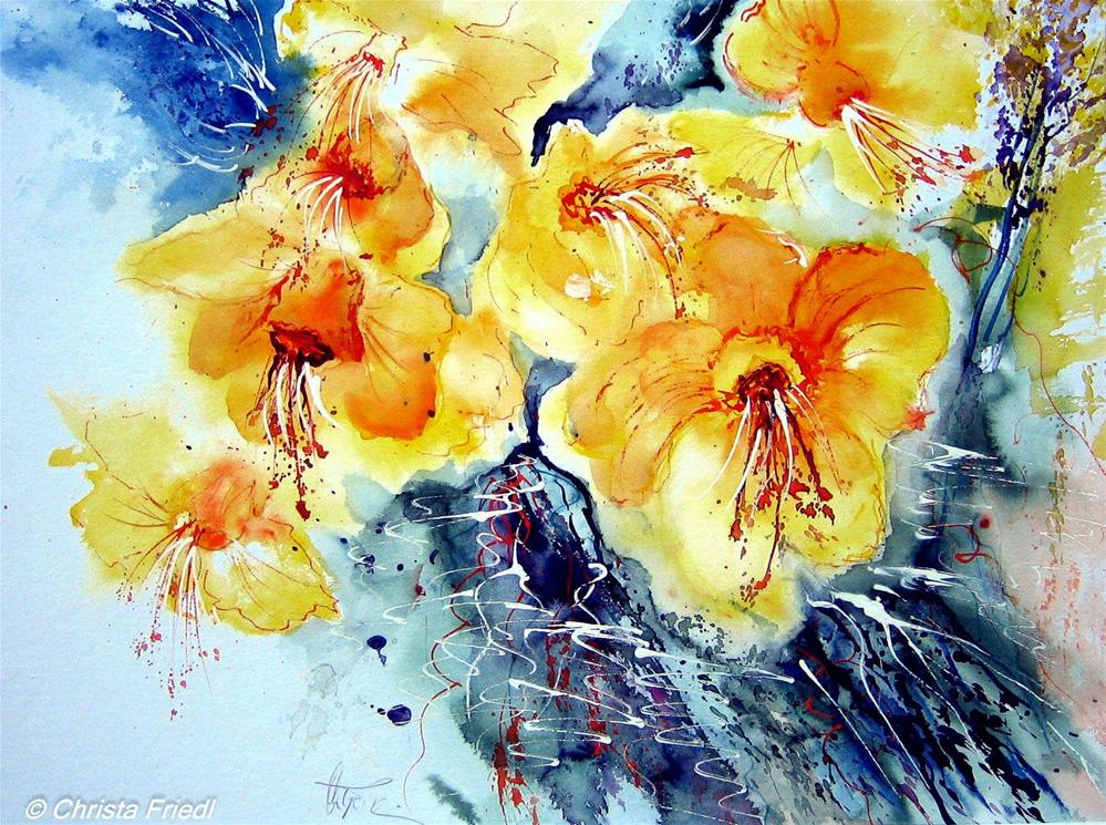 """Daffodils"" original fine art by Christa Friedl"