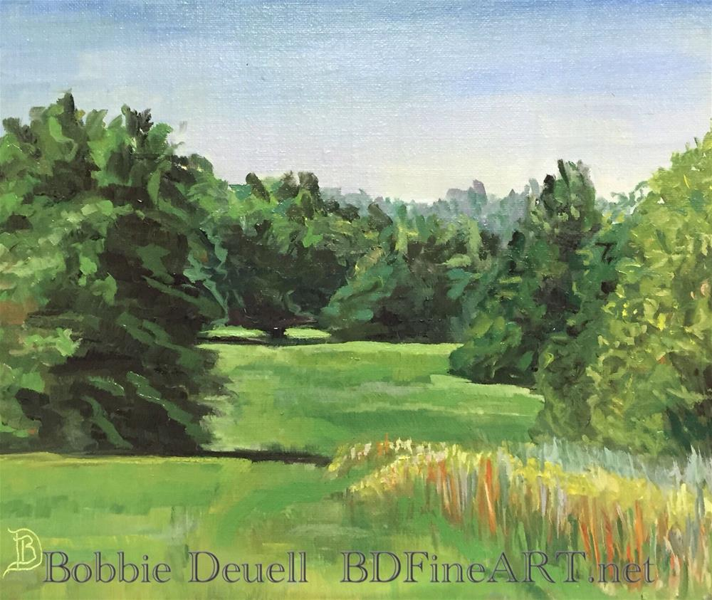 """#26 Country Morning"" original fine art by Bobbie Deuell"