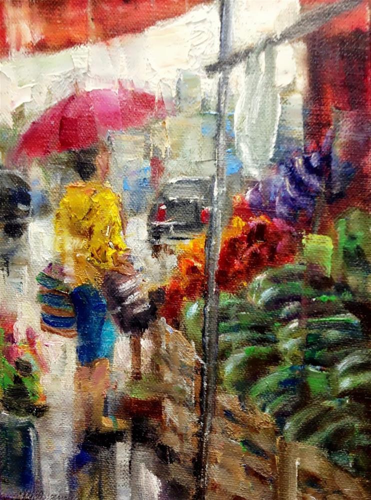 """""""Farmers Market #14"""" original fine art by Julie Ford Oliver"""