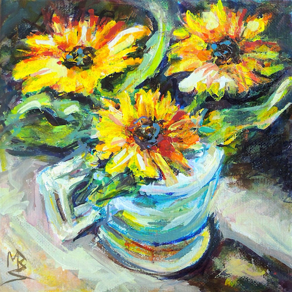 """In The Cup"" original fine art by Mary Schiros"