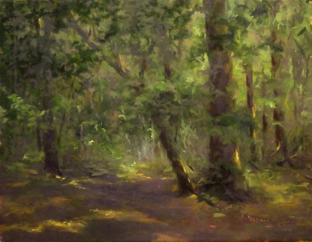 """September Woods, One"" original fine art by Dianne Mize"