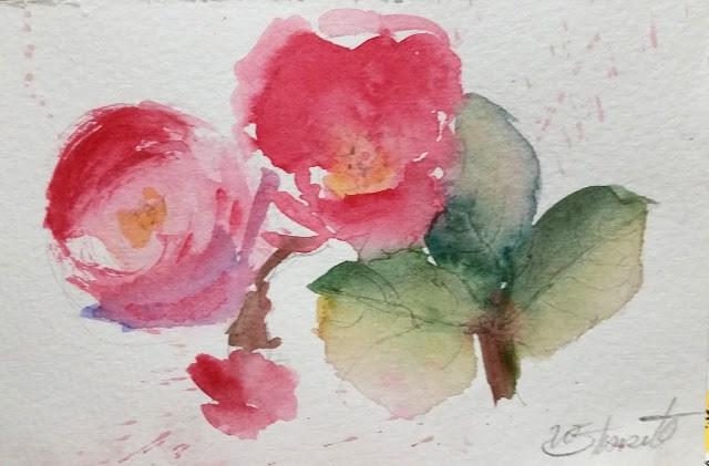 """A Sprig Of Joy"" original fine art by Wendy Starita"