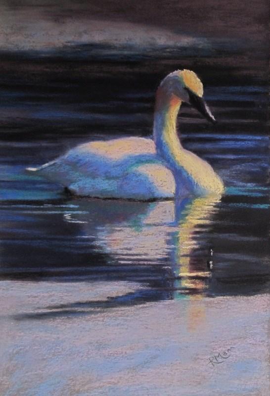 """Cold Glide 1"" original fine art by Ruth Mann"