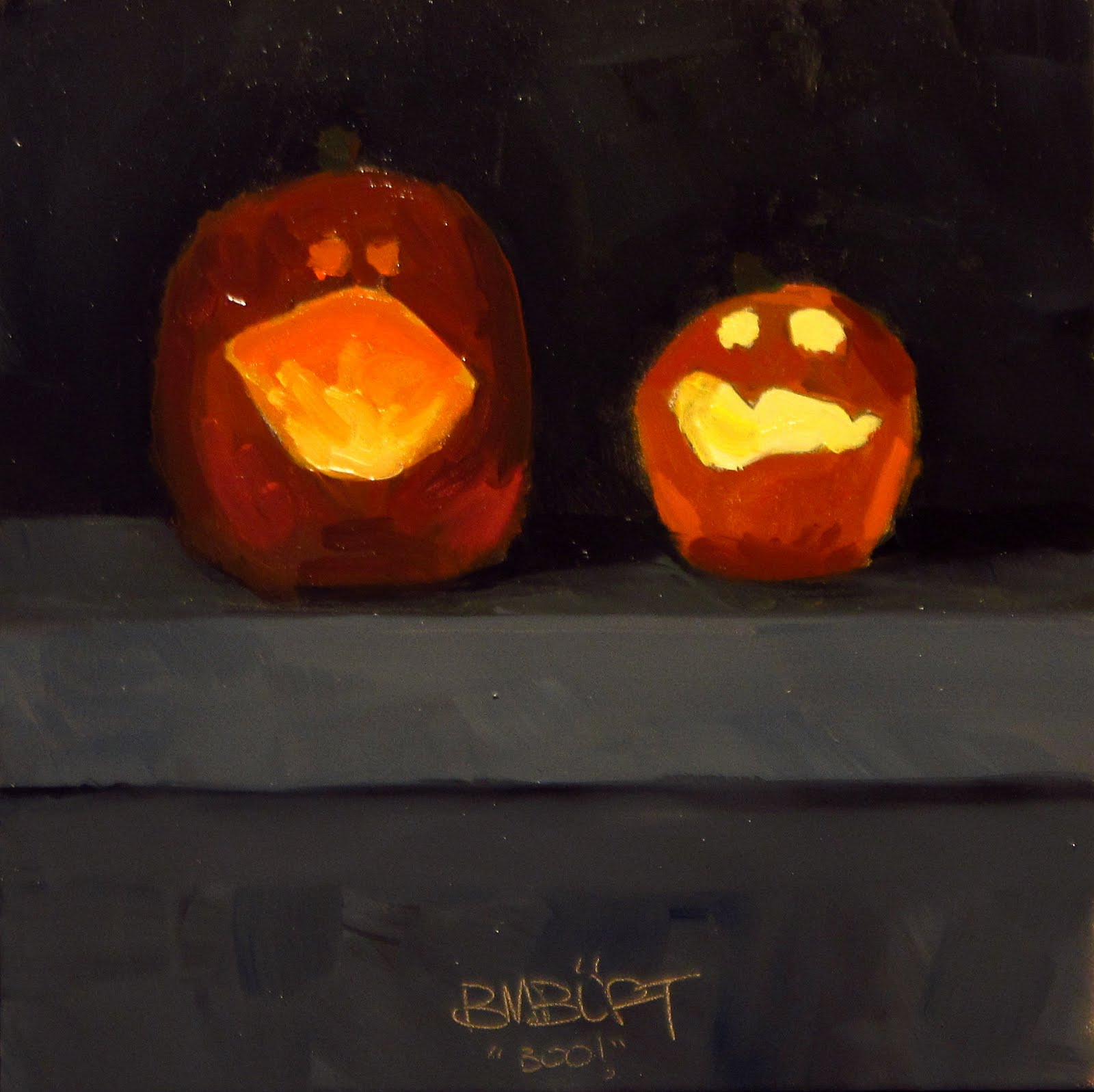 """DAILY DIAPER #208 Boo!"" original fine art by Brian Burt"
