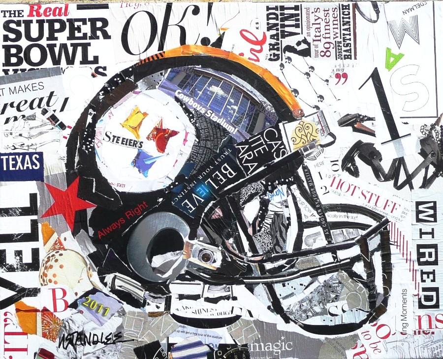 """""""Steelers Helmet 11004 SOLD"""" original fine art by Nancy Standlee"""