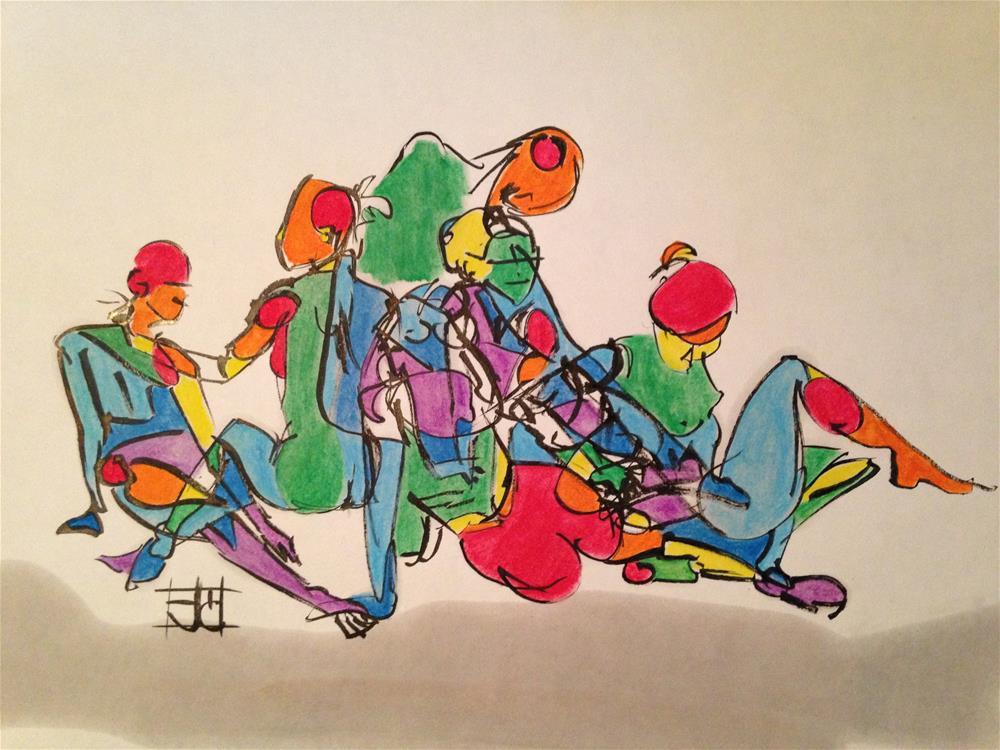 """""""Various poses"""" original fine art by Arron McGuire"""