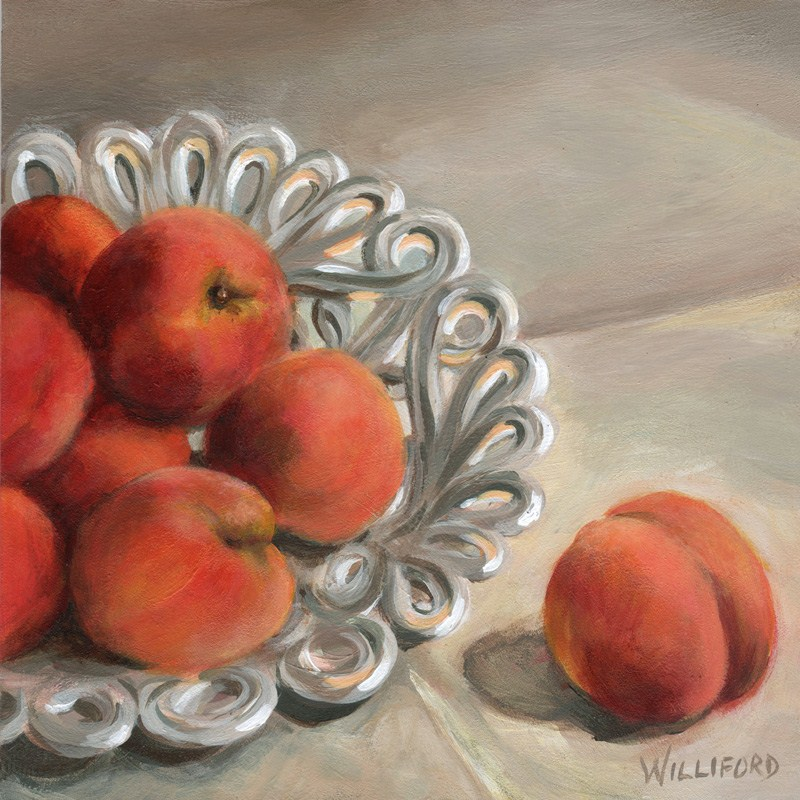 """Sweet Peaches"" original fine art by Kathleen Williford"