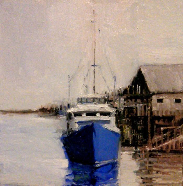 """At the Marina"" original fine art by Bob Kimball"