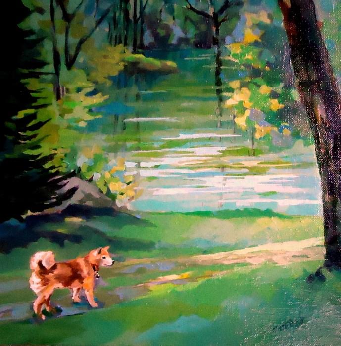 """""""Kira"""" original fine art by Laurie Mueller"""