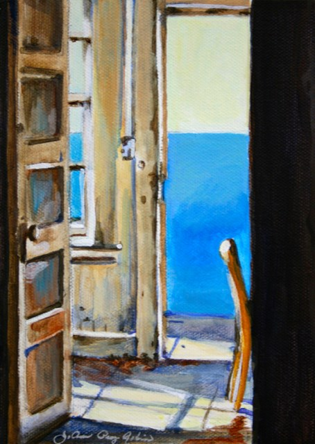 """Shut the Front Door"" original fine art by JoAnne Perez Robinson"