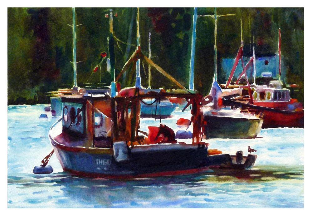 """Dartmouth fishing boat"" original fine art by Graham Berry"