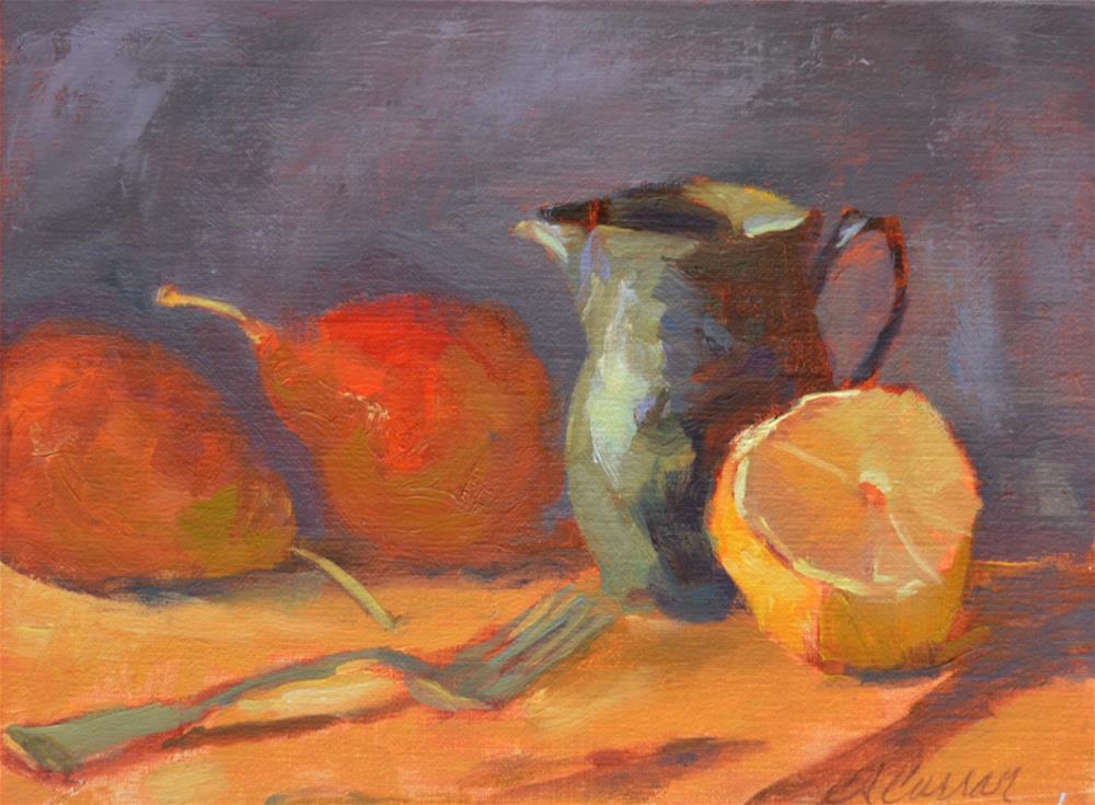 """""""Already Sliced"""" original fine art by Cheryl A Curran"""
