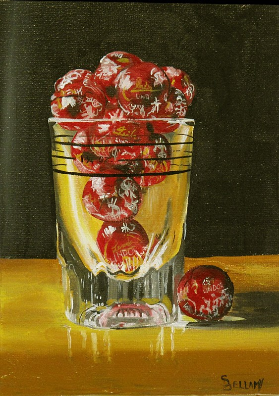 """Shot Glass With Truffles!"" original fine art by Sherry Bellamy"