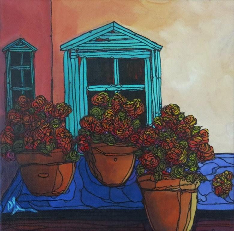"""#48 AGAIST THE WINDOW"" original fine art by Dee Sanchez"