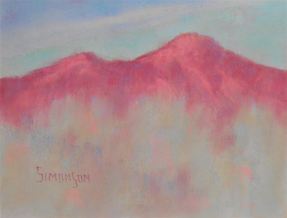 """""""Crimsom Peaks"""" original fine art by Bev Simonson"""