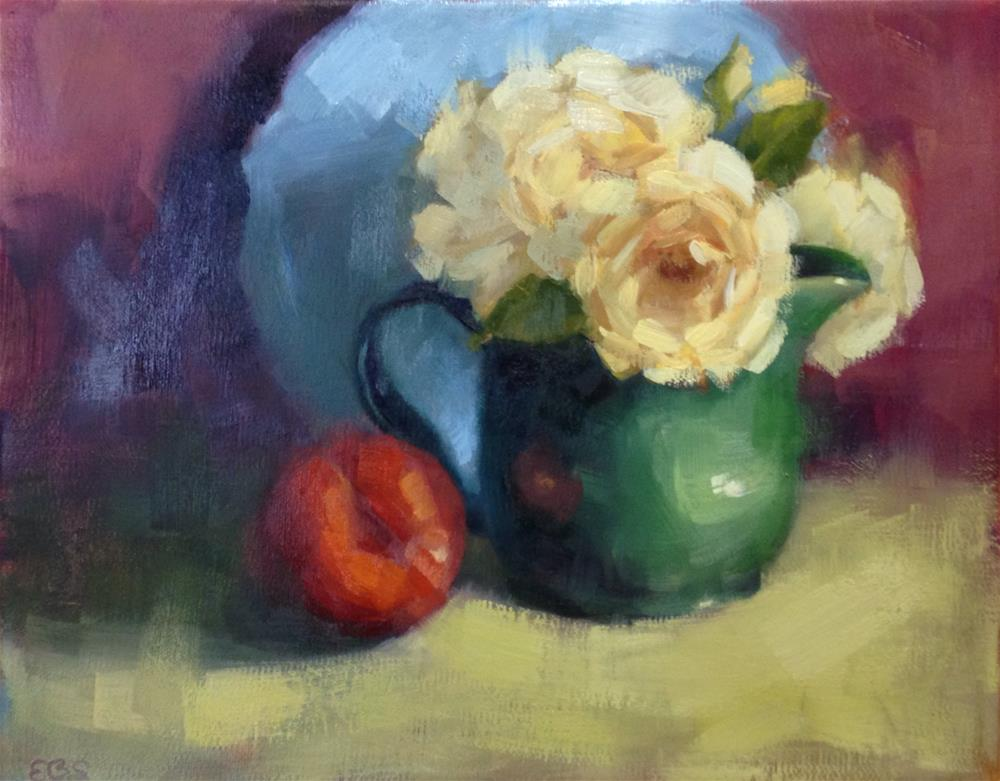 """Yellow Roses"" original fine art by Emilie Saunders"