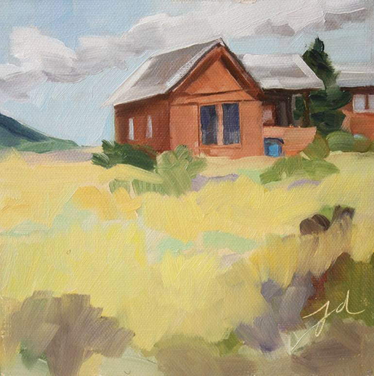 """Little Adobe"" original fine art by Jessie Dodington"