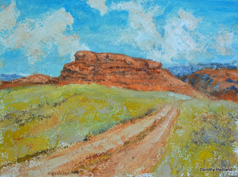 """The hole in the wall country"" original fine art by Dorothy Redland"