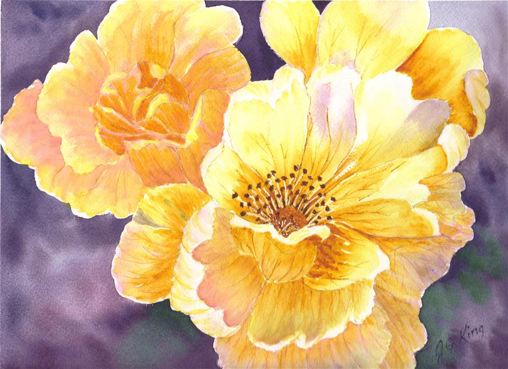 """floral"" original fine art by jennifer king"