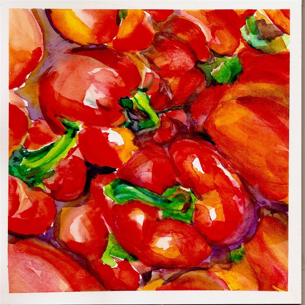 """""""In Search of a Deeper Red"""" original fine art by Jean Krueger"""
