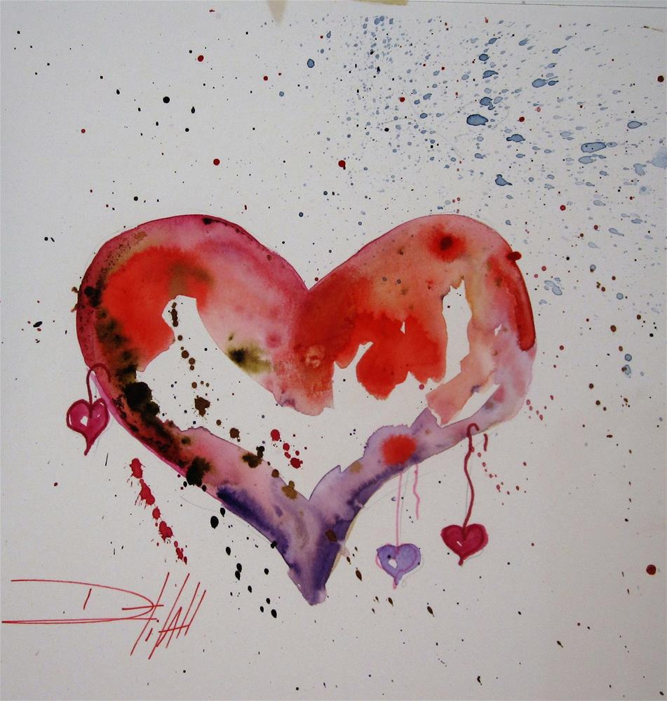 """My Heart"" original fine art by Delilah Smith"