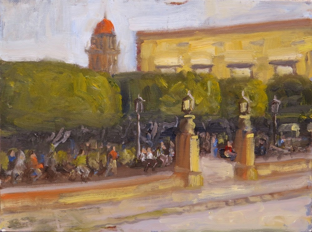 """Main Gate to the Jardin"" original fine art by Richard Kiehn"