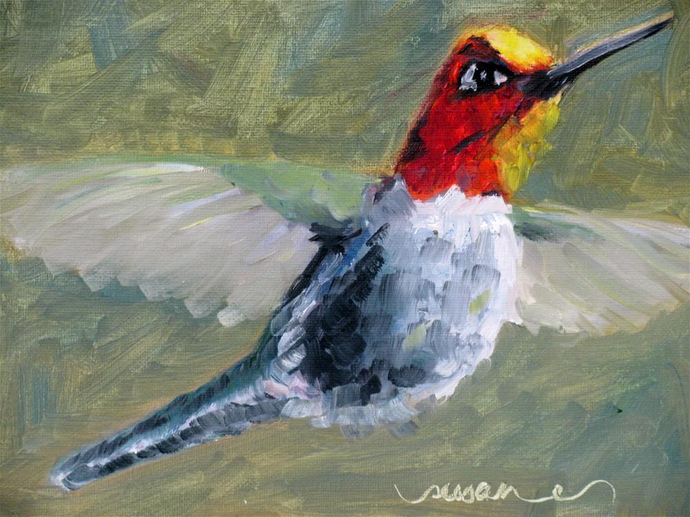 """Lil' Hummer II"" original fine art by Susan Elizabeth Jones"
