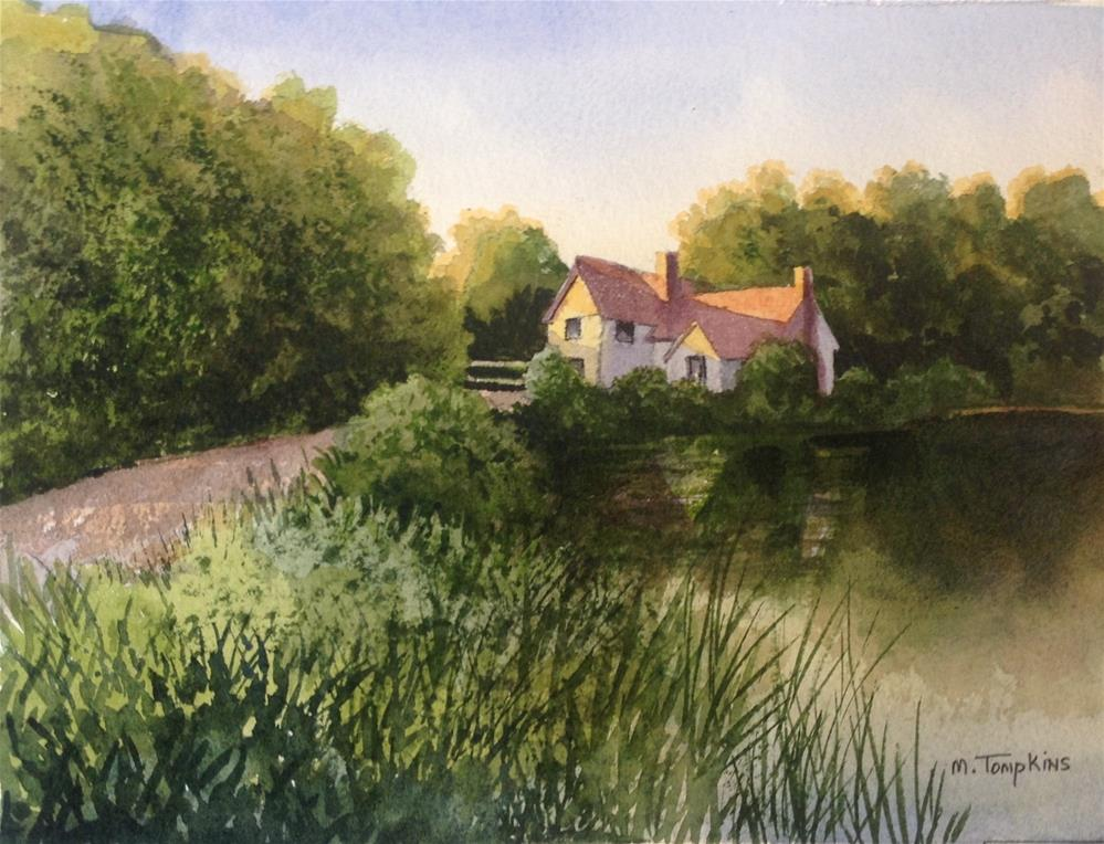 """Cottage by the Pond"" original fine art by Mark Tompkins"