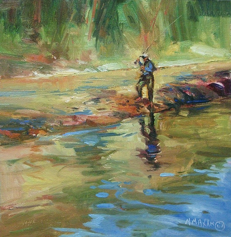 """Reflection On The River"" original fine art by Mary Maxam"