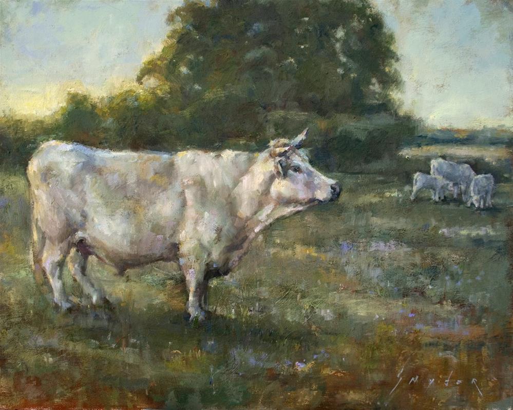 """Evening Walk Home"" original fine art by Julie Snyder"