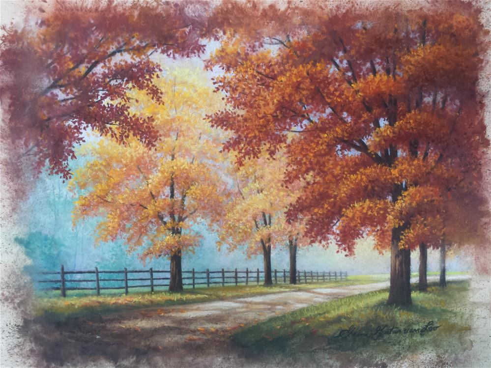 """Autumn Lane"" original fine art by Elaine Guitar van Loo"